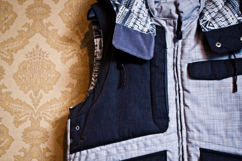 Image of White Mountaineering Pertex E/W Viella Down Vest