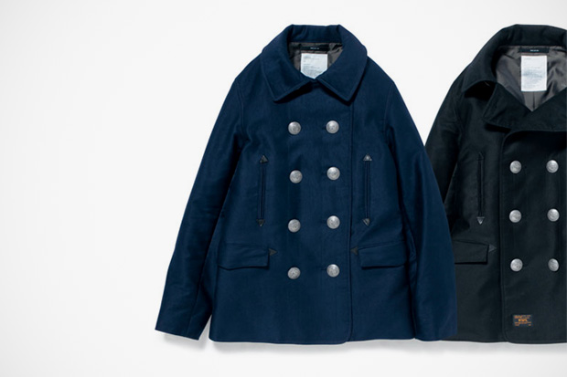 Image of WTAPS Blackwatch Pea Coat
