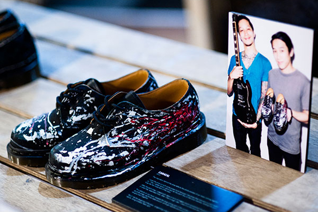 Image of Zouk x Dr. Martens Custom 1461 Shoes for Charity