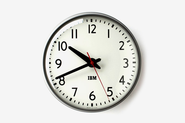 Image of 1960s IBM Standard Issue Clock