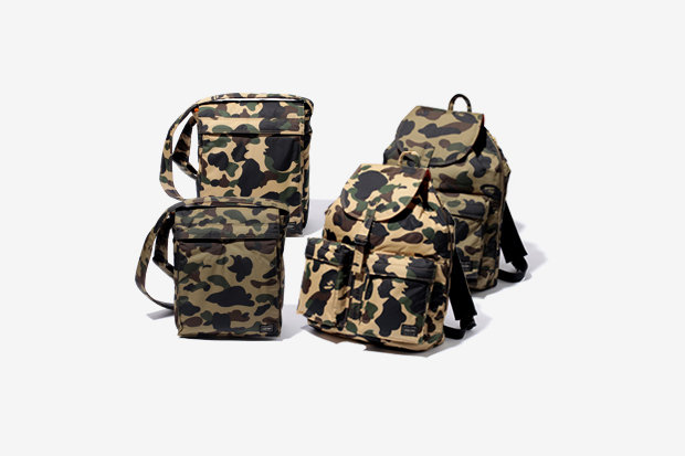 Image of A Bathing Ape x Porter Camo Bag Collection