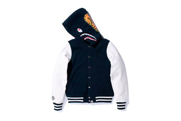 Image of A Bathing Ape SHARK VARSITY TYPE HOODIE