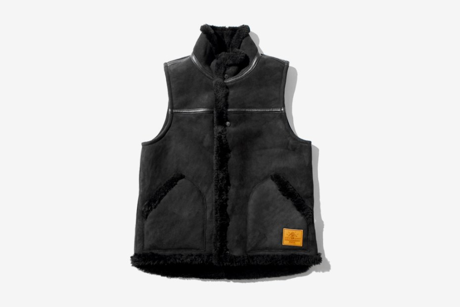 Image of A Bathing Ape SHEEPSKIN MOUTON VEST