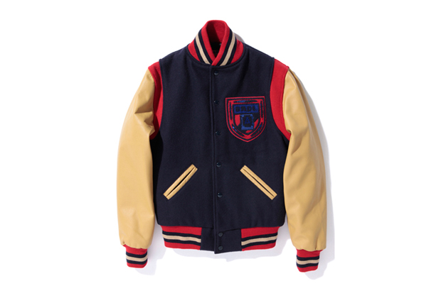Image of A Bathing Ape x Ebbets Field Flannels Varsity Jacket