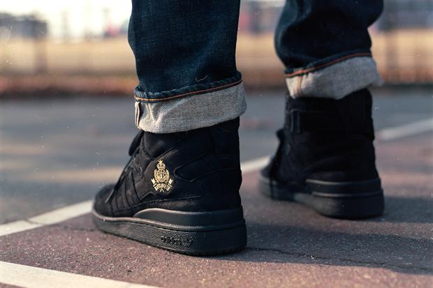 Image of adidas Originals Forum Crest Hi by Frank The Butcher