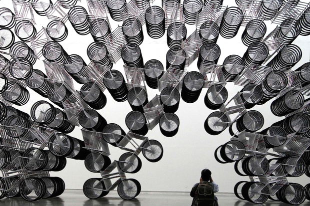 "Image of Ai Wei Wei ""Forever Bicycles"" Installation"