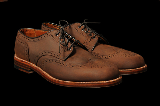 Image of Alden Bryant Derosa Smooth Tobacco Chamois Wingtip