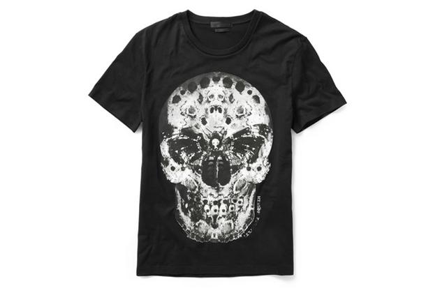 """Image of Alexander McQueen """"Moth"""" Skull T-Shirt"""