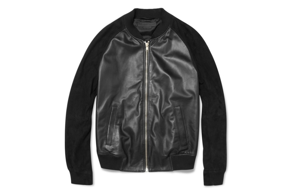 Image of  Alexander McQueen Nappa Leather Bomber Jacket