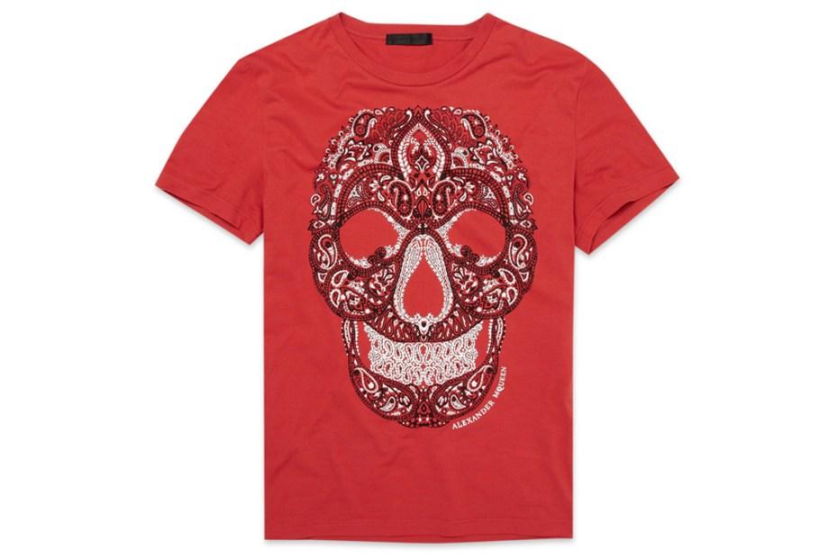 "Image of Alexander McQueen ""Paisley"" Skull T-Shirt"