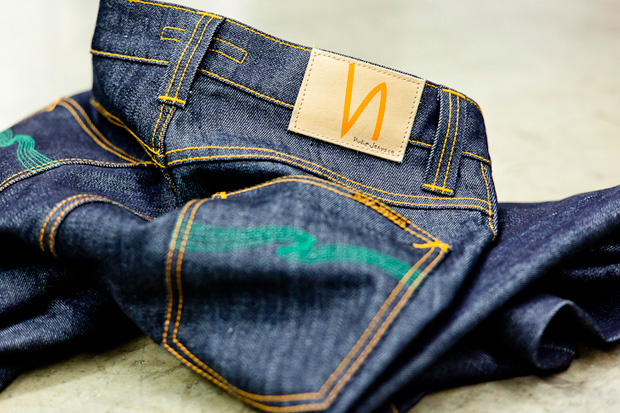 "Image of Atrium x Nudie Jeans ""The Green Apple"" Denim"
