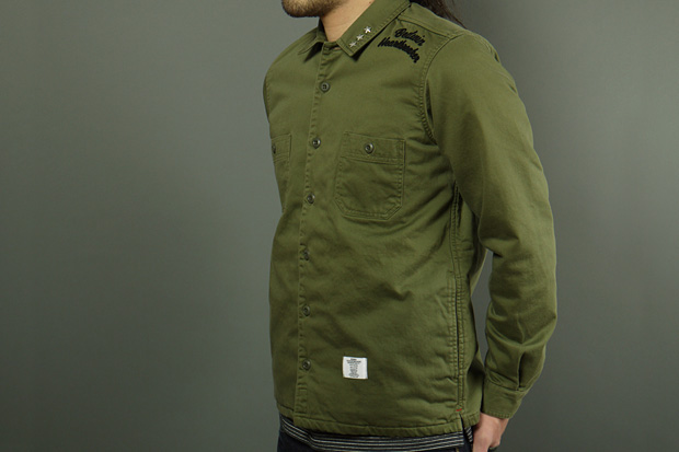 """Image of BEDWIN & THE HEARTBREAKERS for HAVEN """"Richards"""" Military Quilted CPO Shirt"""