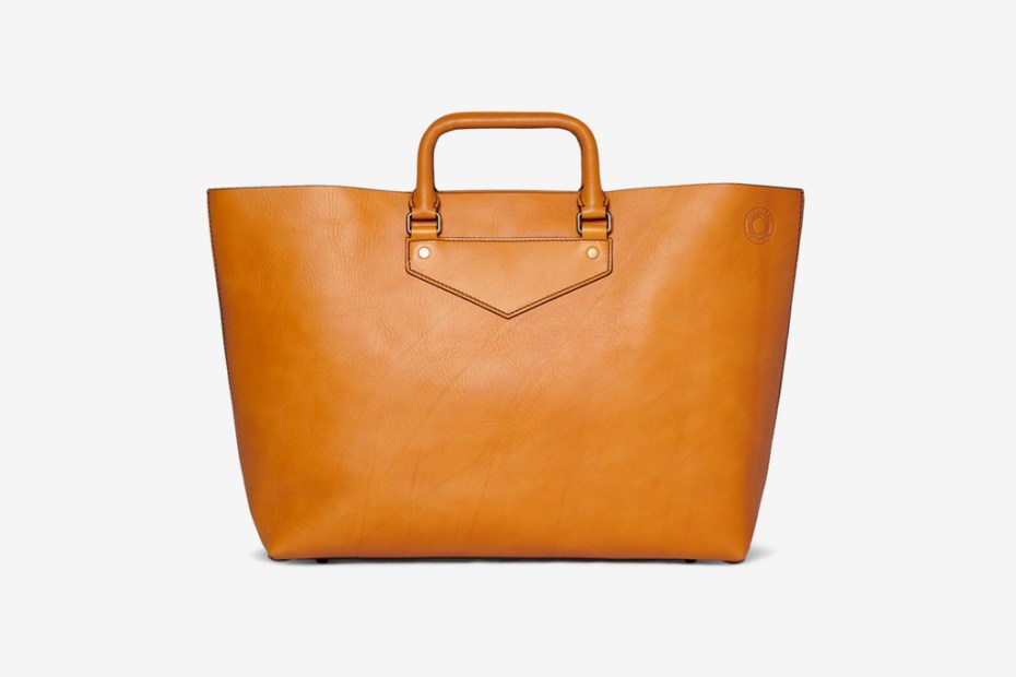 Image of Burberry Prorsum Leather Tote Bag