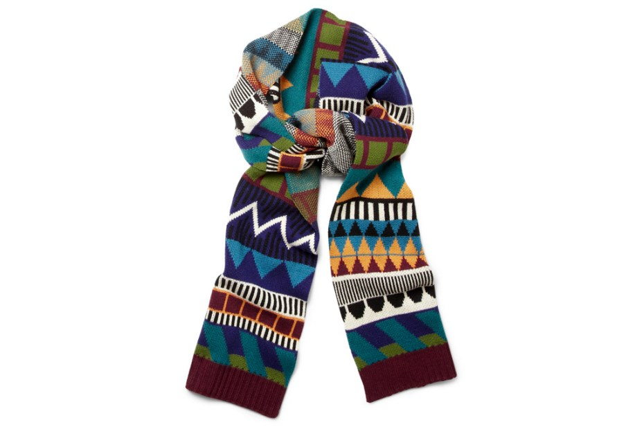 Image of Burberry Prorsum Patterned Multicolored Scarf