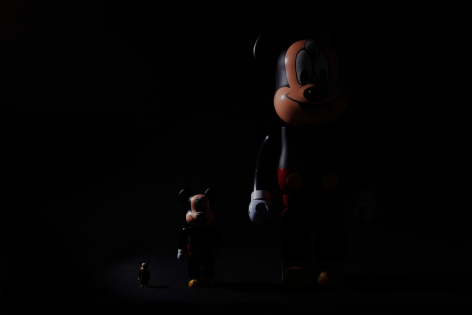 Image of CLOT x Disney x Medicom Toy 3-Eyed Mickey Bearbrick 100%, 400% & 1000% Preview