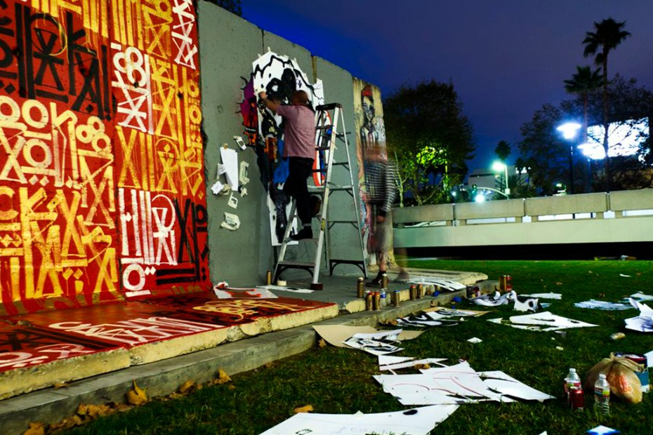 "Image of D*Face & RETNA ""Behind the Berlin Wall"" Exhibition @ Wende Museum"