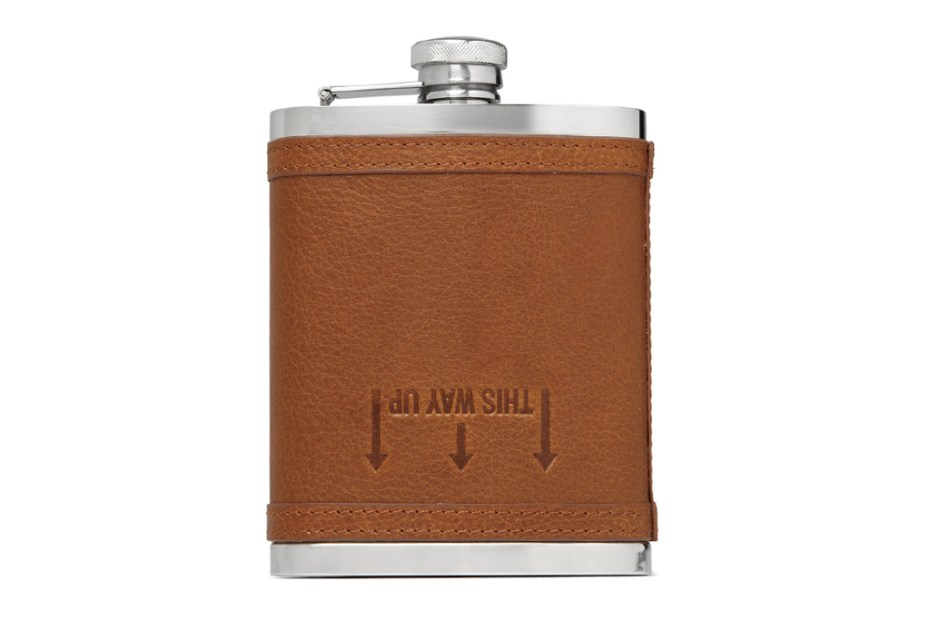 Image of J.Crew Leather Drinks Flask