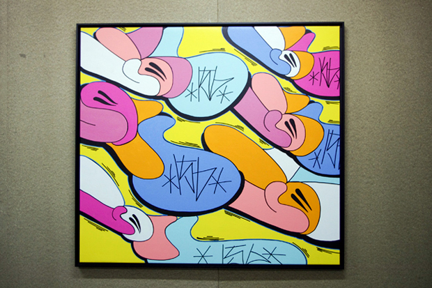 "Image of JonOne ""Throw-Up"" Exhibition @ Blackrainbow Recap"