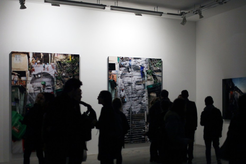 "Image of JR ""Encrages"" Exhibition @ Galerie Perrotin"