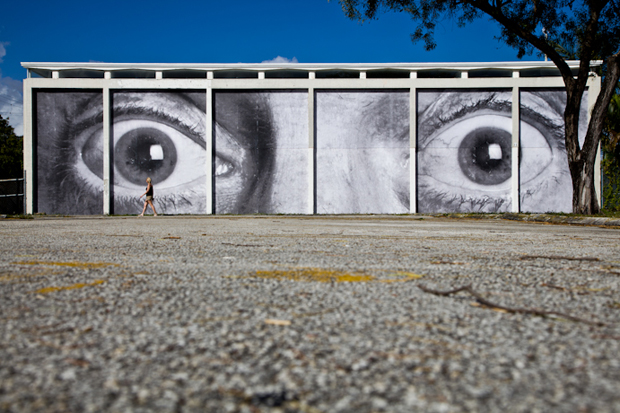 """Image of JR """"Wall & Paper"""" @ The M Building in Miami"""