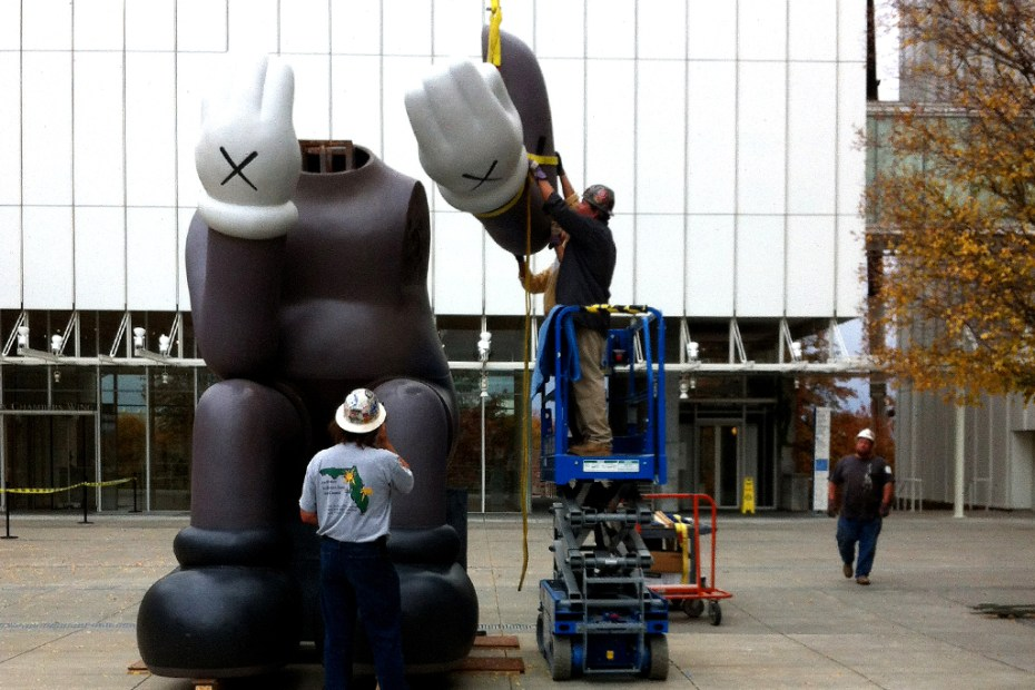 "Image of KAWS ""Down Time"" Exhibition Companion Install @ High Museum of Art"