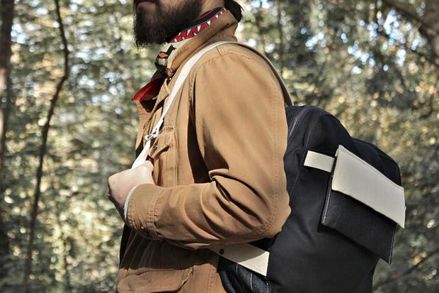 Image of Layerxlayer Fall Utility Tote   Waxed Canvas Backpack