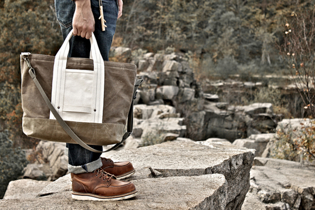 Image of Layerxlayer Fall Utility Tote | Waxed Canvas Backpack