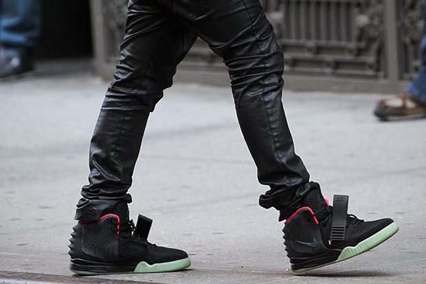 Image of Nike Sportswear Air Yeezy 2 Black/Pink Closer Look
