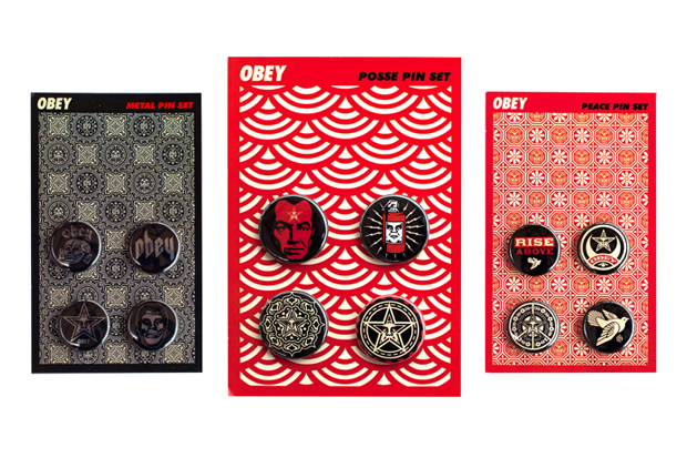 Image of OBEY 2011 Pin Set