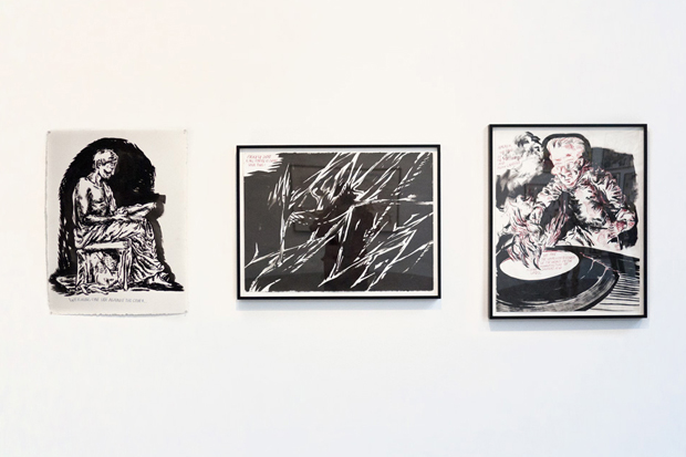 "Image of Raymond Pettibon ""Desire in Pursuyt of the Whole"" Exhibition Recap"
