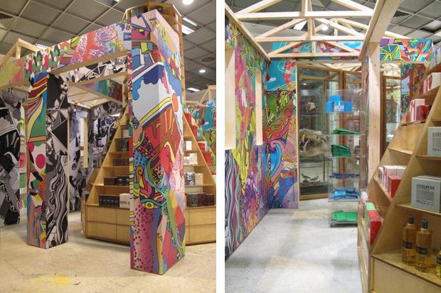"Image of Rei Kawakubo x AVAF ""Hut Invasion"" Installation @ Dover Street Market"