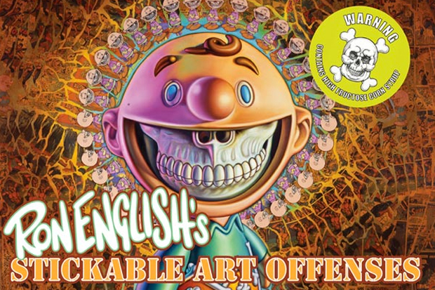 Image of Ron English 'Stickable Art Offenses' Book