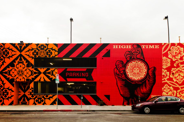 Image of Shepard Fairey Mural @ District La Brea (Completed)