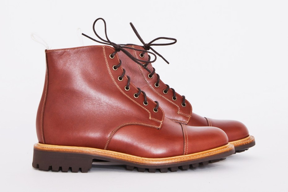 Image of Très Bien Shop x Mark McNairy Tan Waxy Derby Boot