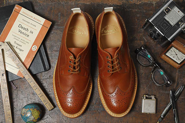 Image of Tricker&#039;s for End Hunting Co. Two Tone Long Wing Brogue