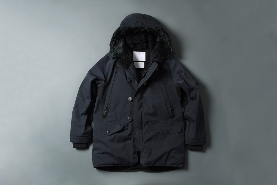 Image of White Mountaineering GORE-TEX Herringbone N-3B Boa Jacket