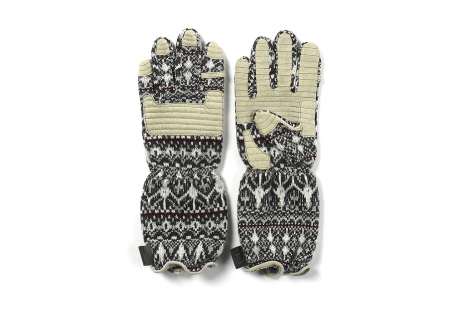 Image of White Mountaineering Middle Knit Stratum Pattern Gloves