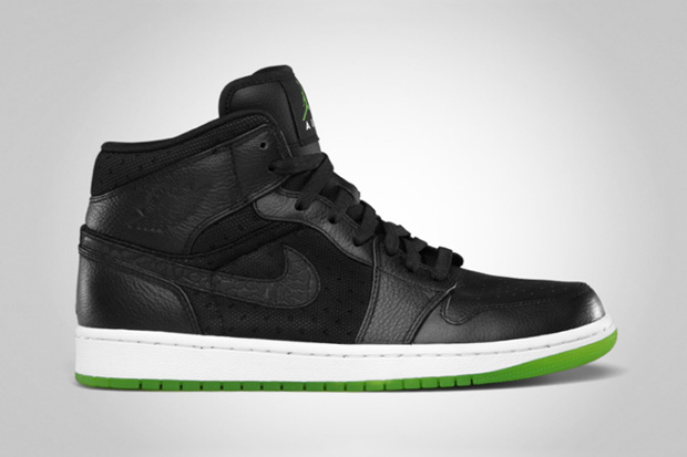 Image of Air Jordan 1 Phat Black/Action Green