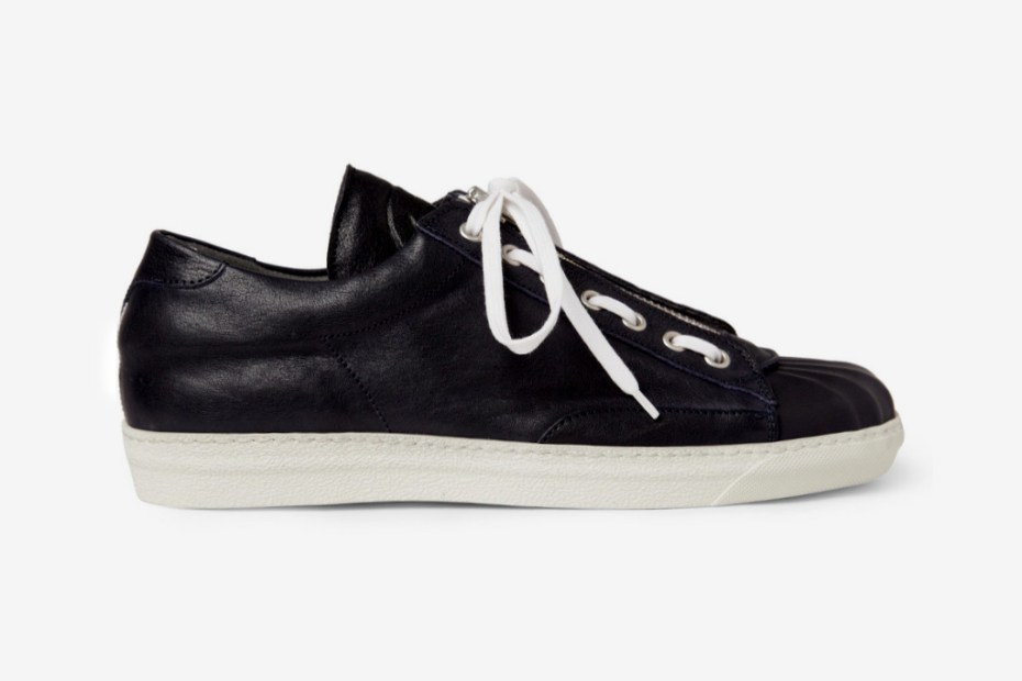Image of Alexander McQueen Zip and Lace Leather Sneakers
