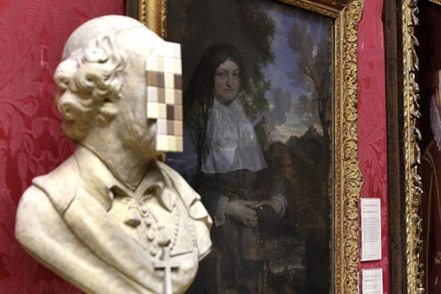 Image of Banksy 'Cardinal Sin' Sculpture @ Walker Art Gallery, Liverpool