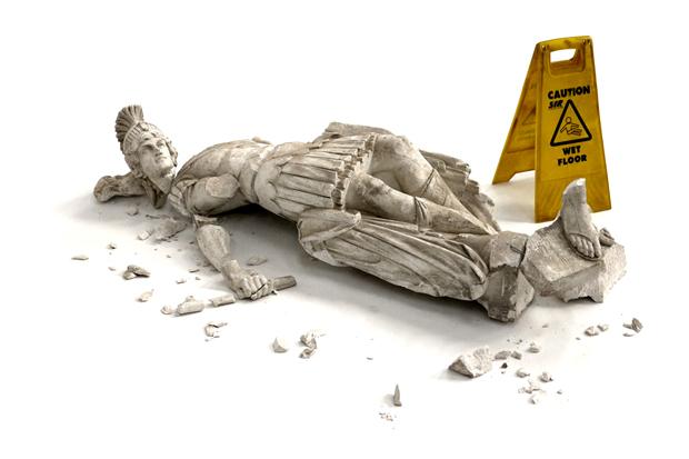 Image of Banksy 'Fallen' Sculpture