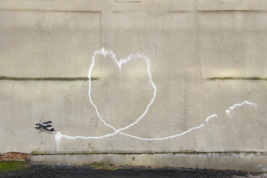 Image of Banksy in Liverpool &#039;Love Plane&#039;