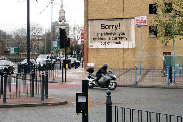 Image of Banksy in Poplar, London
