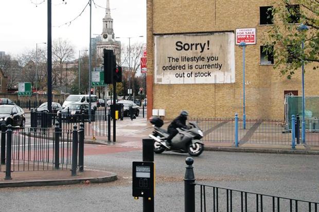 Image of Banksy in Poplar, London
