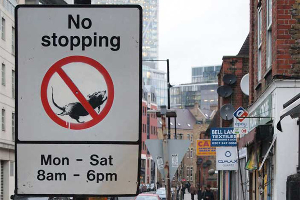Image of Banksy 'No Stopping Rats'