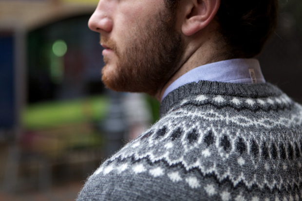 Image of BEDWIN & THE HEARTBREAKERS Eno Nordic C-Neck Knit