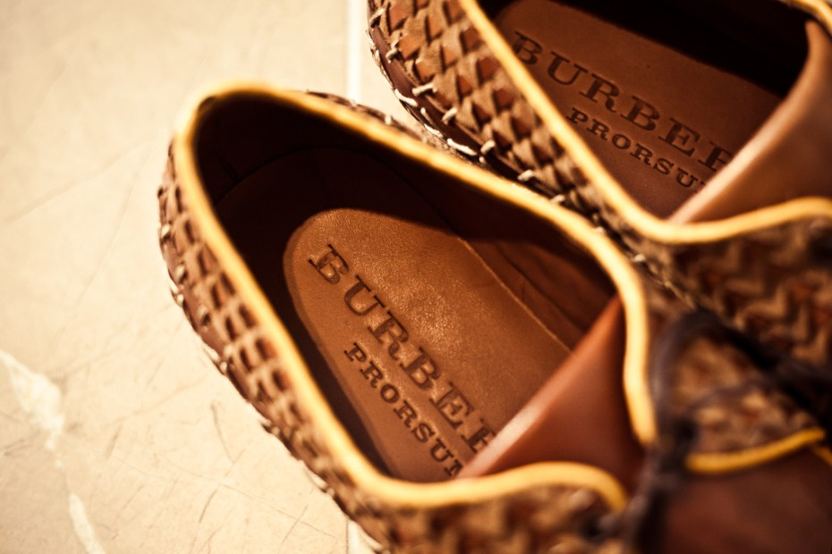 Image of Burberry Prorsum 2012 Spring/Summer Calfskin Lace-Up Shoes