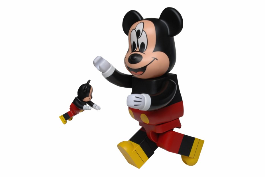 Image of CLOT x Disney x Medicom Toy 3-Eyed Mickey Bearbrick 100% & 400%