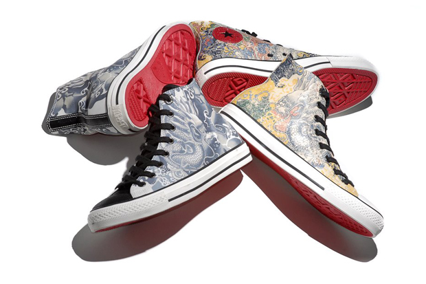 "Image of Converse Chuck Taylor All Star Leather Hi ""Year of the Dragon"""