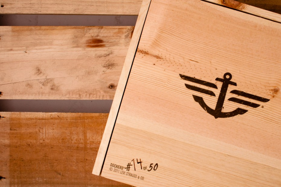 Image of Dockers Alpha Khaki Whiskey Crate
